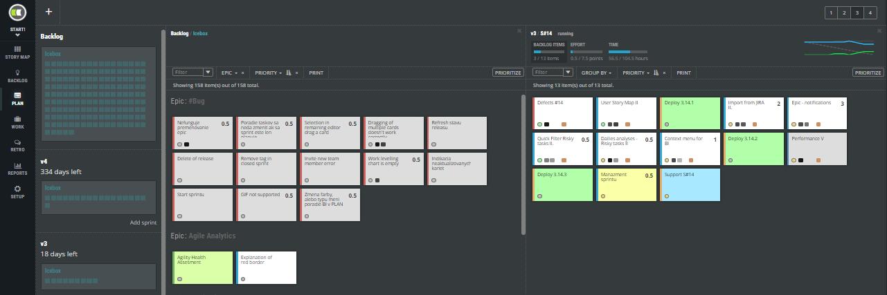 Scrum Agile ScrumDesk Start planovanie verzia release sprint iteracia