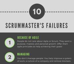 scrummaster failures zlyhanie