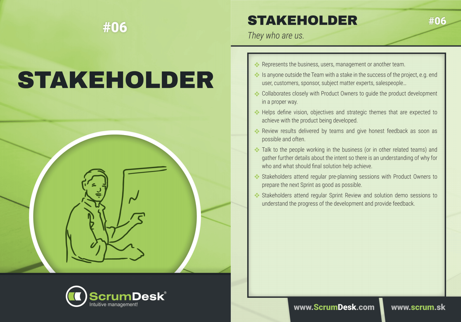 scrum Karty stakeholder