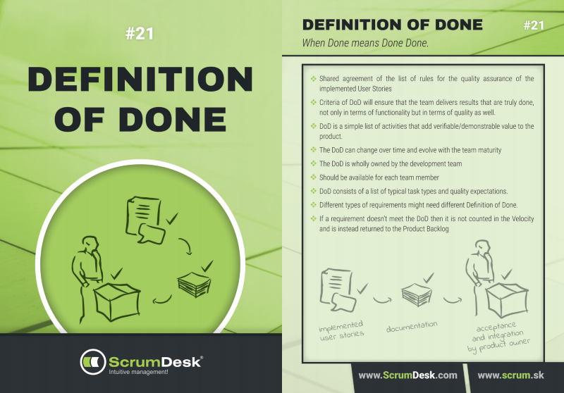 scrum karty 21 - definition of done