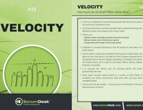 Scrum karty 22 – Velocity