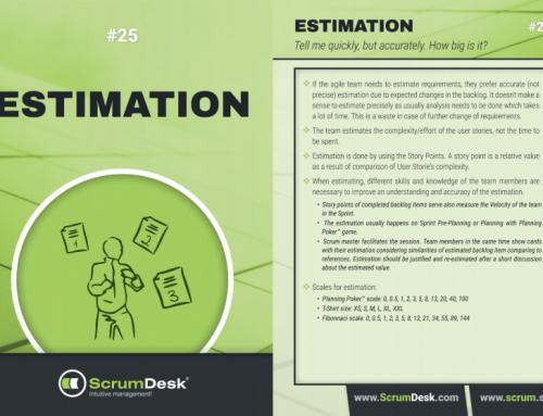 Scrum karty 25 – Estimation, odhady