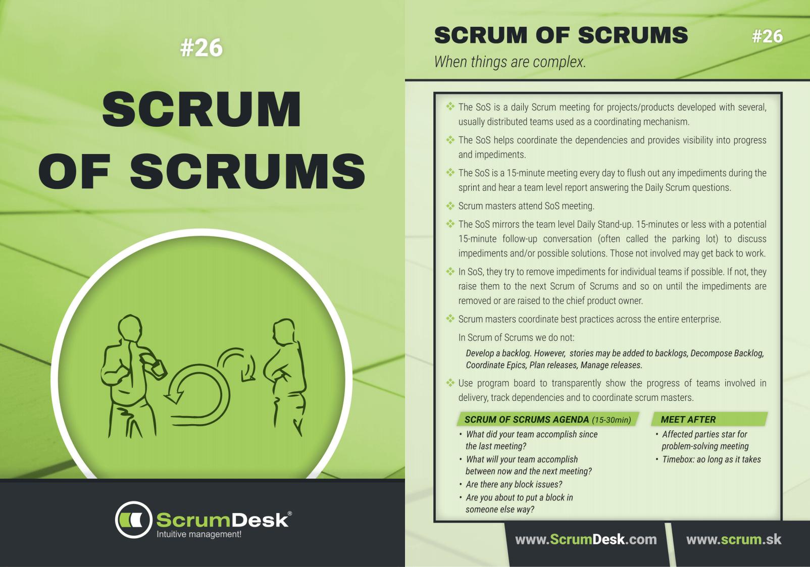 scrum karty 26 - Scrum of Scrum