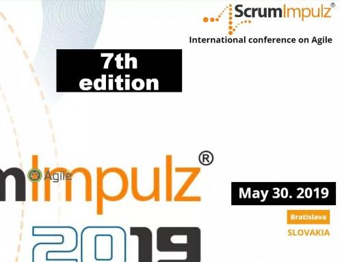 Siedmy ročník ScrumImpulz, konferencie o Agile. 30.5.2019, Bratislava.