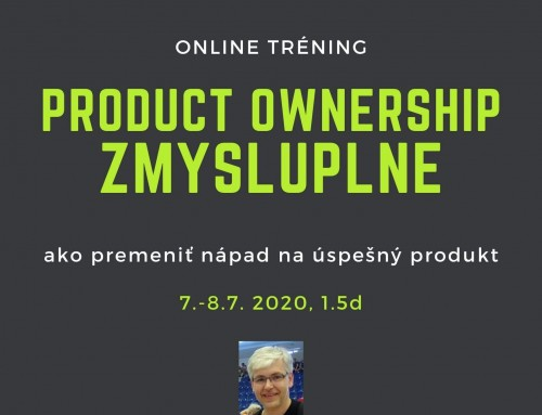 Online tréning Product Ownership Zmysluplne