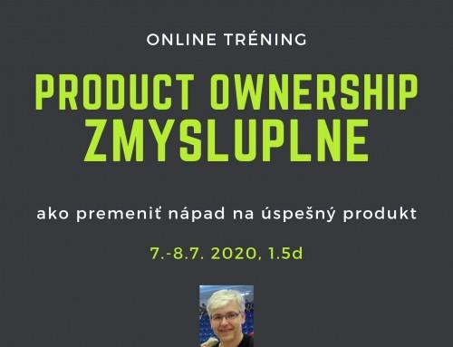 Online tréning Product Ownership Zmysluplne