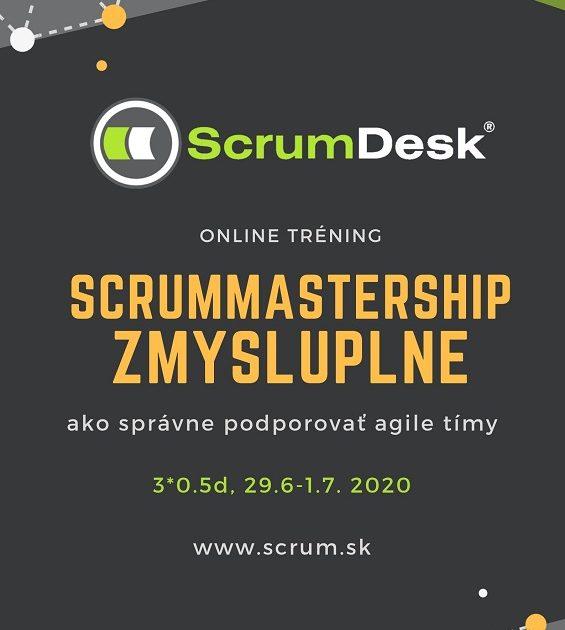 Online tréning SCRUM MASTERSHIP ZMYSLUPLNE