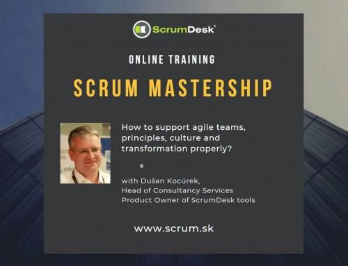 Online tréning Scrum Mastership, 20-21.10.2020