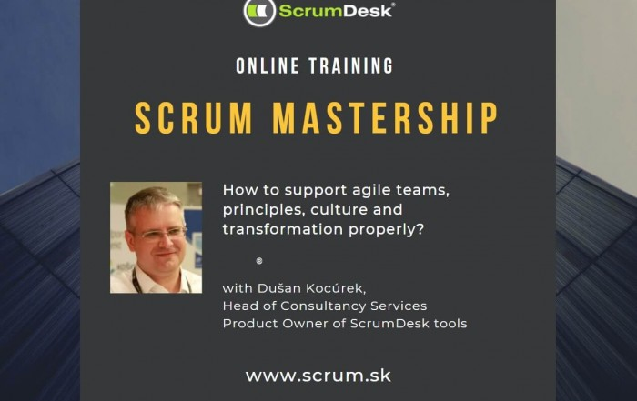 Scrum Master online trening 20-21.10.2020