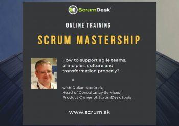 Online tréning: Scrum Mastership, 20-21.10.2020