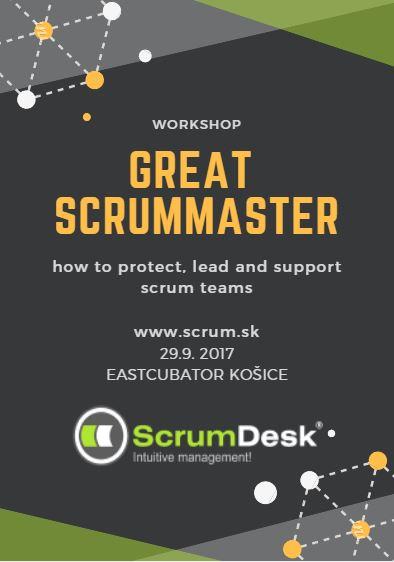 Tréning SCRUMMASTER PERFEKTNE, 29.9.2017 v Košiciach